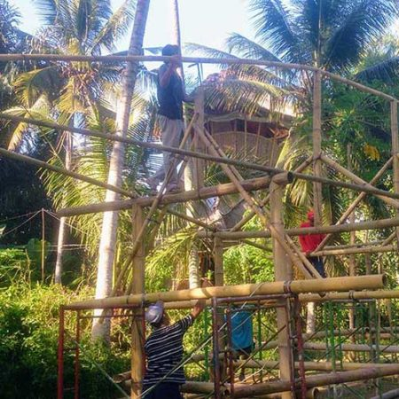 Workshop al Green Village, architetture in bamboo - Bali